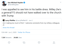 Screenshot_2020-06-04 (1) Gen Michael Hayden on Twitter I was appalled to see him in his battle dress Milley (he's a genera[...]